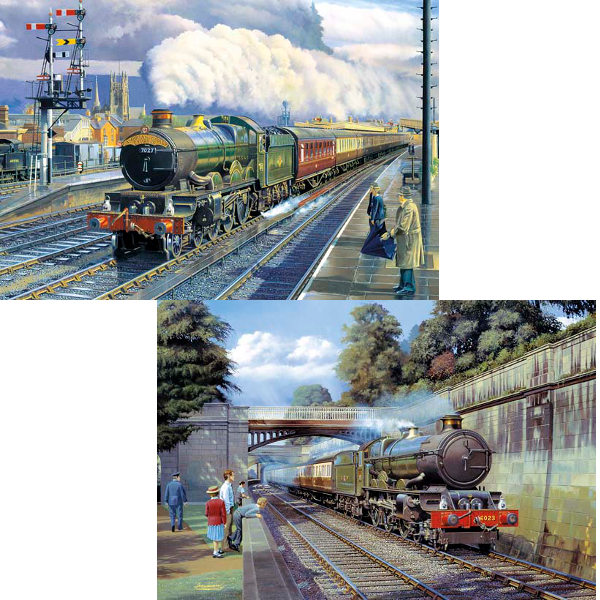 Up Main and Down Loop - 2x500pc jigsaw puzzle