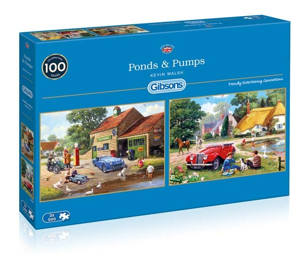 Ponds and Pumps - 2 x 500pc jigsaw puzzle