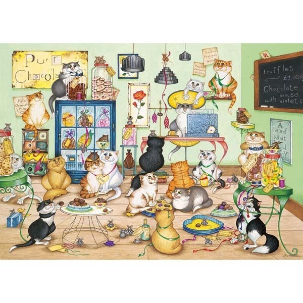 Purrfect Chocolate - 1000pc jigsaw puzzle