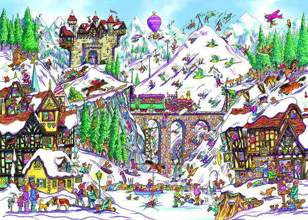 Off Piste - 1000pc jigsaw puzzle