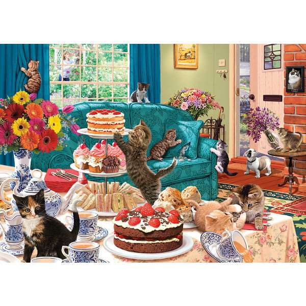 Feline Frenzy - 1000pc jigsaw puzzle