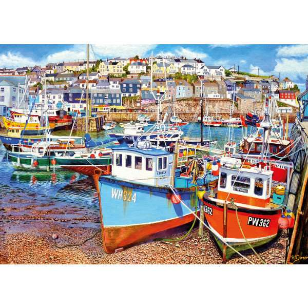 Mevagissy Harbour - 1000pc jigsaw puzzle