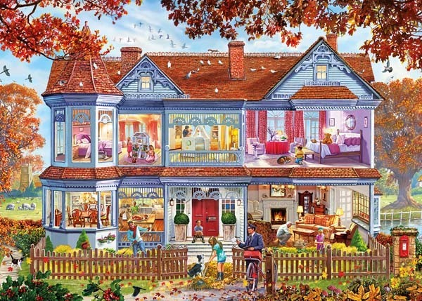 Autumn Home - 1000pc jigsaw puzzle