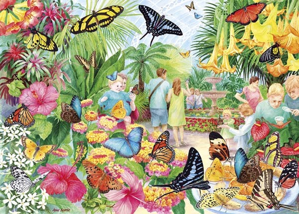 Butterfly House - 1000pc jigsaw puzzle