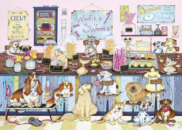 Woofits Sweet Shop - 1000pc jigsaw puzzle