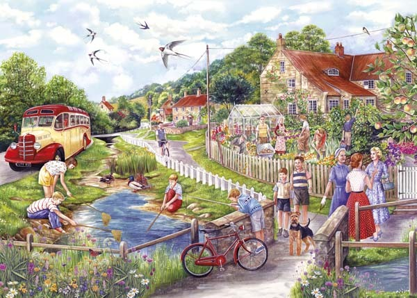 Summer by the Stream - 1000pc jigsaw puzzle