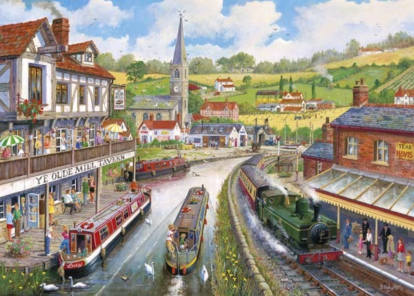 Ye Olde Mill Tavern - 1000pc jigsaw puzzle