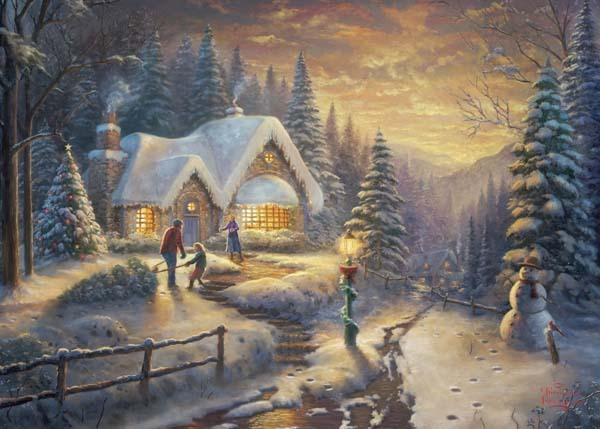 Country Christmas Homecoming - 1000pc jigsaw puzzle