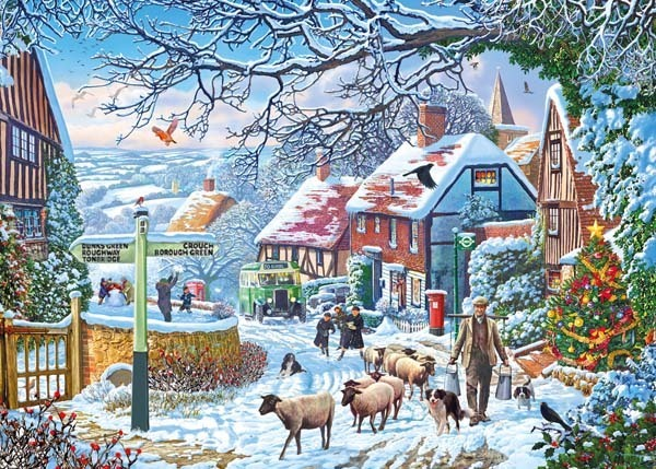 A Winter Stroll - 1000pc jigsaw puzzle