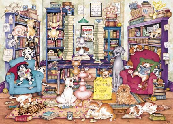 Barks Books - 1000pc jigsaw puzzle