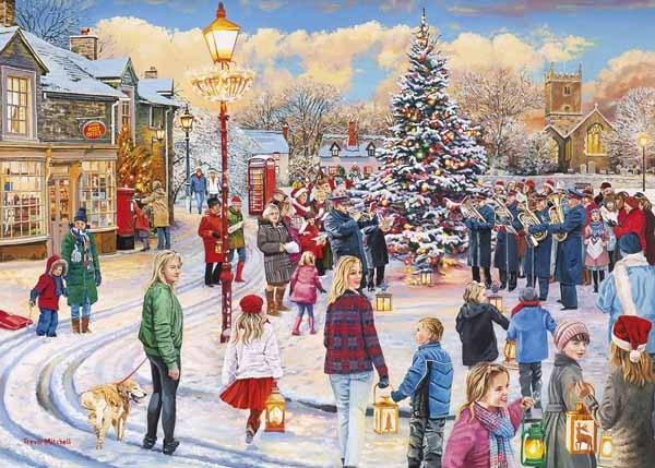 Christmas Jigsaw Puzzles.Christmas Chorus 1000pc Jigsaw Puzzle From Jigsaw