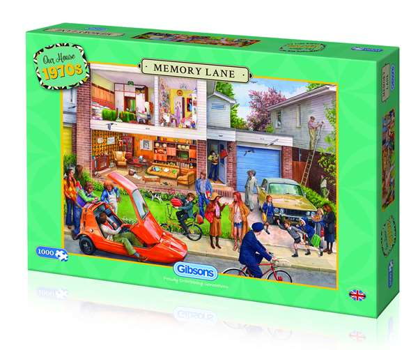 Memory Lane - Our House 1970s - 1000pc jigsaw puzzle