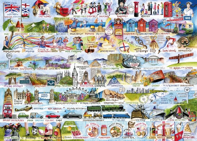 Cream Teas and Queuing - 1000pc jigsaw puzzle