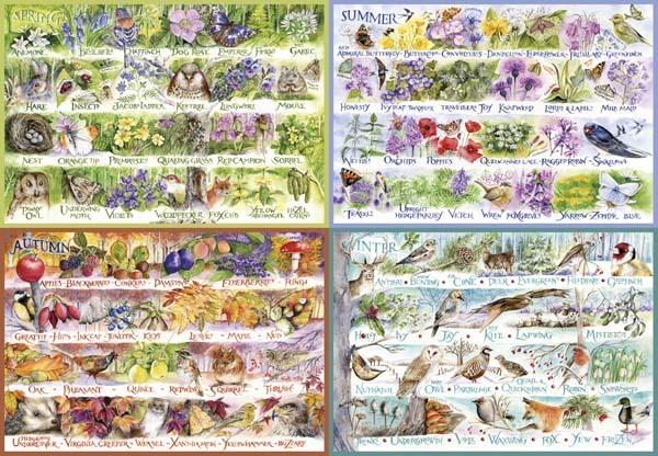 Woodland Seasons - 2000pc jigsaw puzzle