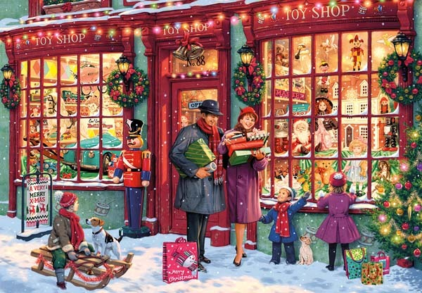 Christmas Toy Shop - 2000pc jigsaw puzzle