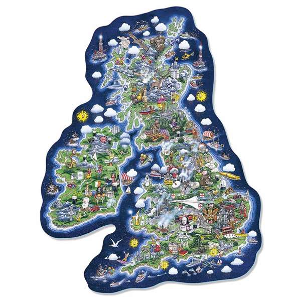 Britain & Ireland Jig-Map jigsaw puzzle