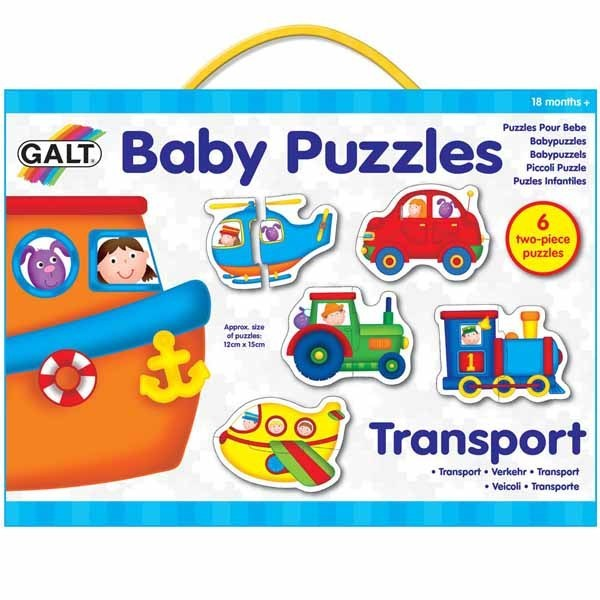 Baby Puzzles - Transport - 6 x 2pc jigsaw puzzle