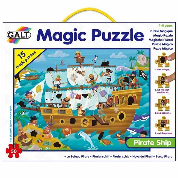 Pirate Ship - Magic Puzzle - 50pc jigsaw puzzle