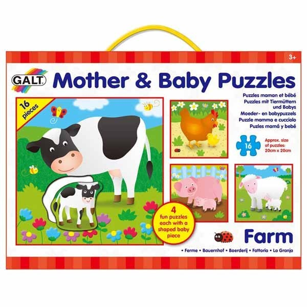 Puzzle Farm Mother And Baby 4 X 16pc Jigsaw Puzzle