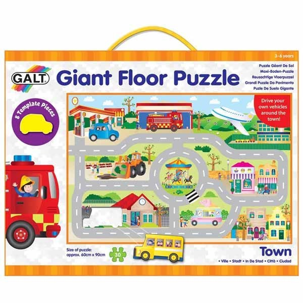 Town - Giant Floor Puzzle - 30pc jigsaw puzzle