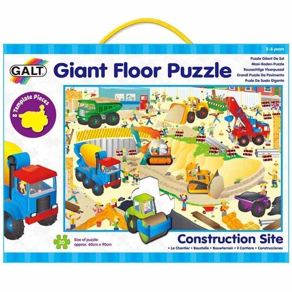 Construction Site Giant Floor Puzzle 30pc Jigsaw