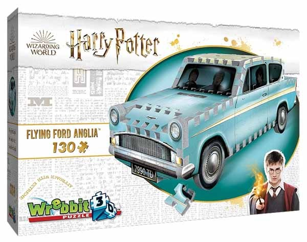 Harry Potter - Flying Ford Anglia - 130pc 3D jigsaw puzzle