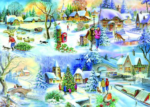 Snowy Afternoon - Extra Large jigsaw puzzle