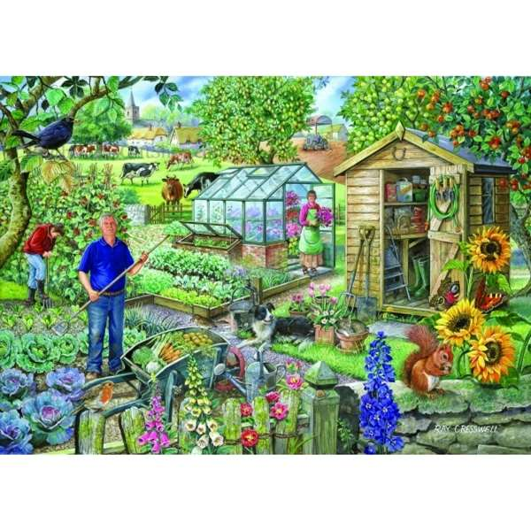 At The Allotment - Extra Large jigsaw puzzle