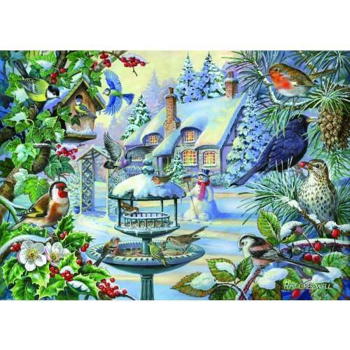 Winter Birds - Extra Large jigsaw puzzle