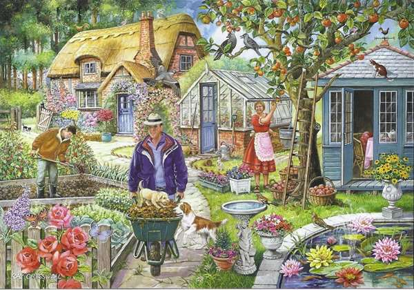 In The Garden - Find The Difference No 1 jigsaw puzzle