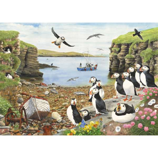 Puffin Parade - Extra Large jigsaw puzzle
