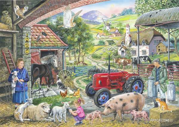 On The Farm – Find The Difference No 2 jigsaw puzzle