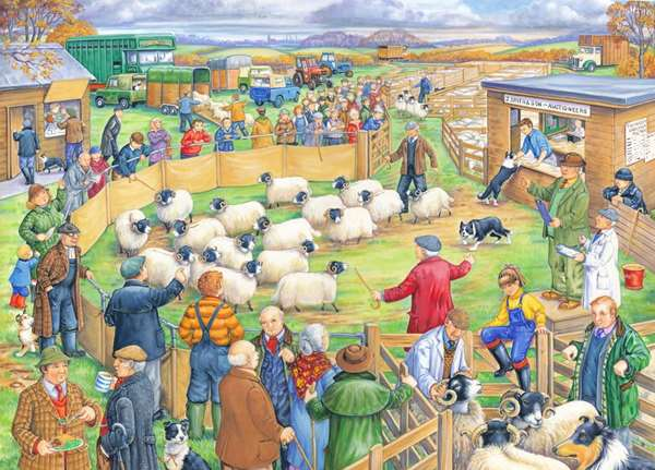 Sheep Sale - Extra Large jigsaw puzzle