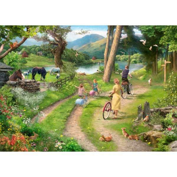 Family Day Out - Extra Large jigsaw puzzle