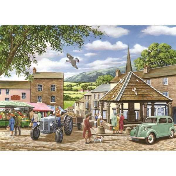 Market Town - 500pc jigsaw puzzle