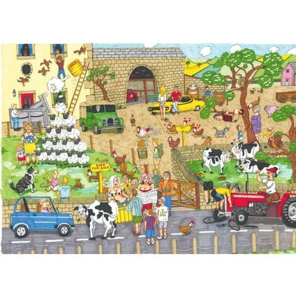 Funny Farm - 1000pc jigsaw puzzle