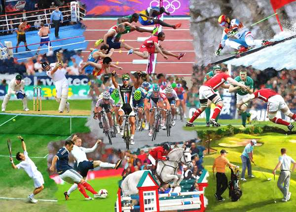 Sports Mixture - Extra Large jigsaw puzzle