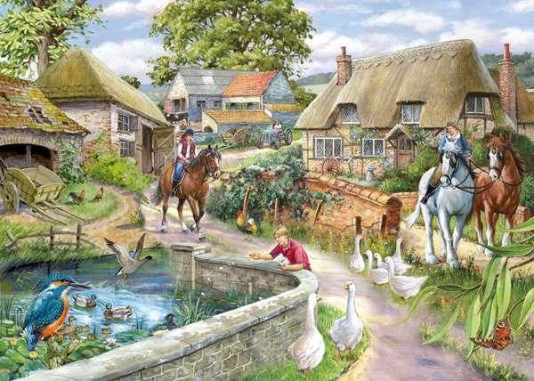 bridle path 1000pc jigsaw puzzle from jigsaw puzzles