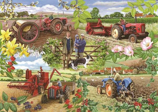 Farming Year - 1000pc Jigsaw Puzzle from Jigsaw Puzzles ...
