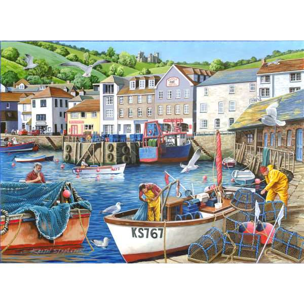 Busy Harbour - Find the Difference 12 - 1000pc jigsaw puzzle