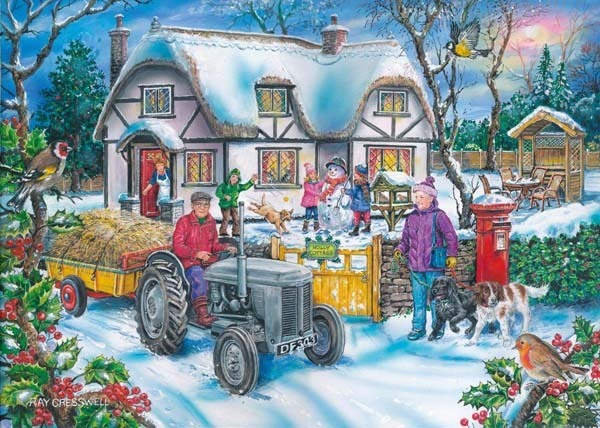 Holly Cottage - 1000pc jigsaw puzzle