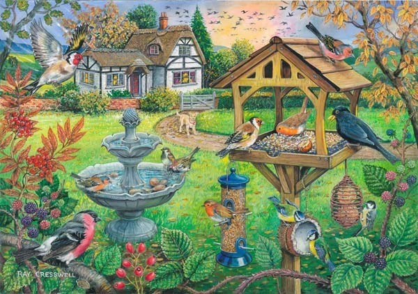 Bird Table - BIG 500 jigsaw puzzle