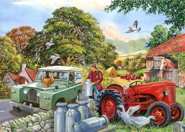 Bob and His Dog - BIG 500pc jigsaw puzzle