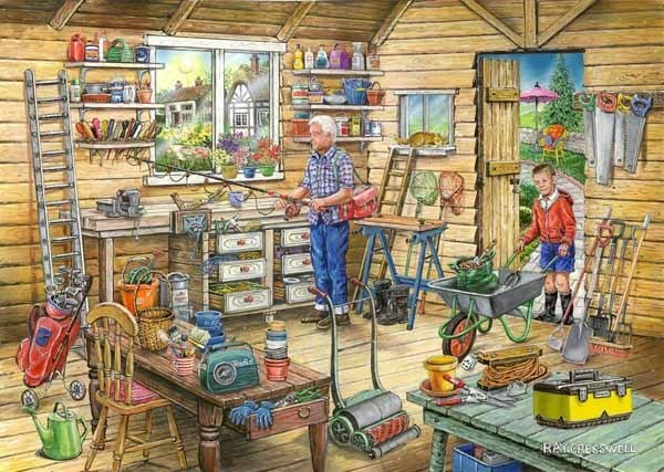 Freds Shed - Find the Difference 14 - 1000pc jigsaw puzzle