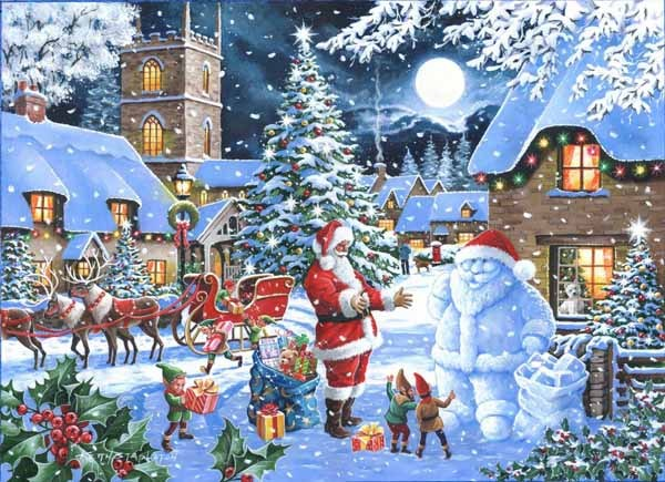 Christmas Jigsaw Puzzles.Seeing Double Christmas Collectors Edition 1000pc Jigsaw