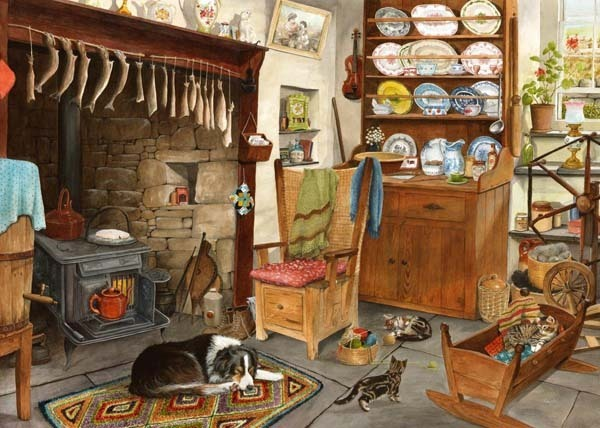 Fishermans Cottage - Big 500pc jigsaw puzzle
