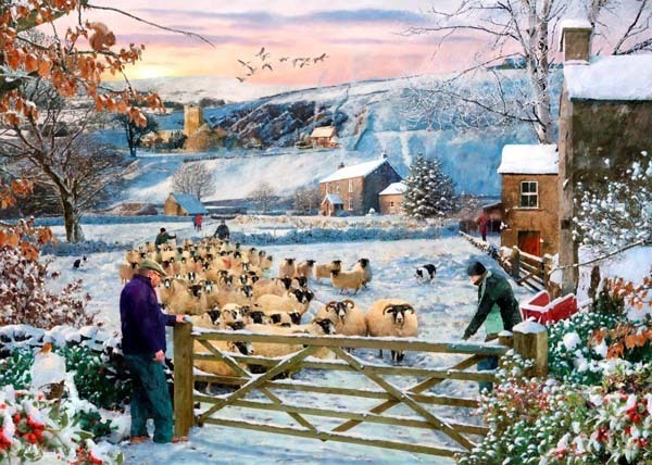 Herding the Flock - Big 500pc jigsaw puzzle