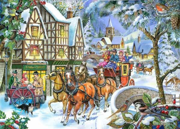 Snow Coach - BIG 500pc jigsaw puzzle