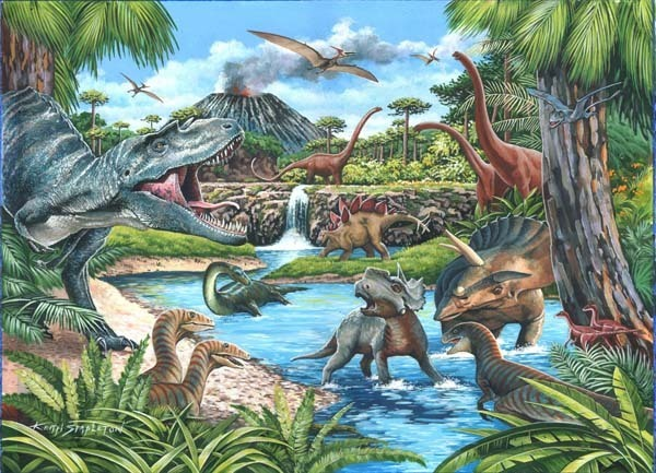 Dinosaurs - Big 500pc jigsaw puzzle
