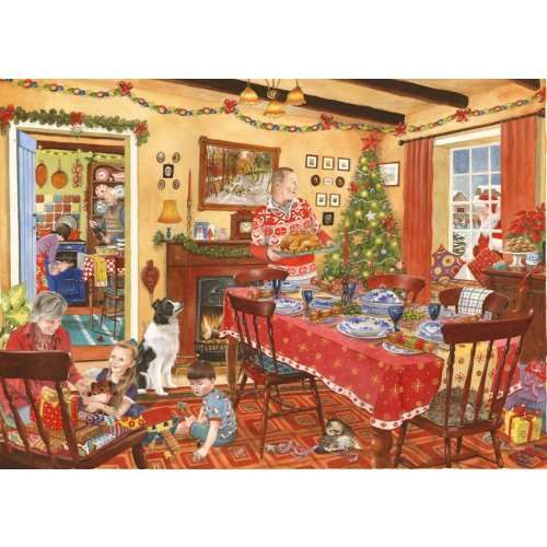 Unexpected Guest Christmas 500 Piece Jigsaw Puzzle From